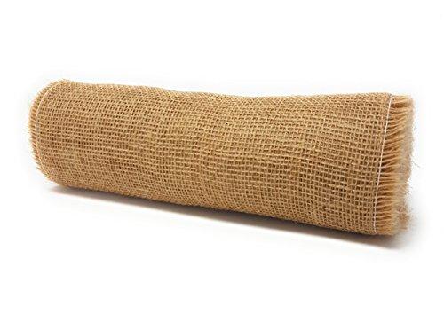 jbJuteband Tischläufer, 100% Jute, Natur, 30 cm x 10 m