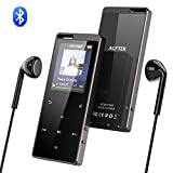 AGPTEK HiFi Bluetooth 4,0 16GB MP3 Player mit 1,8 Zoll TFT Farbbildschirm, Touch Bedienfeld Musik Player mit FM Radio, Aufnahme und Lanyard Loch, unterstützt bis 128 GB SD Karte, X15, Schwarz