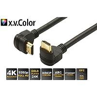 S-Conn 618008 HDMI-Kabel, St-A/St-A, Gewinkelt, Länge 1.5 m