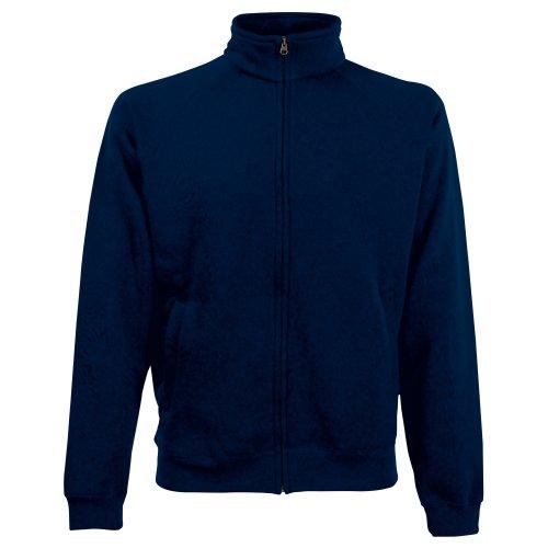 Fruit Of The Loom Herren Sweat-Jacke / Sweatshirt mit Reißverschluss deep navy