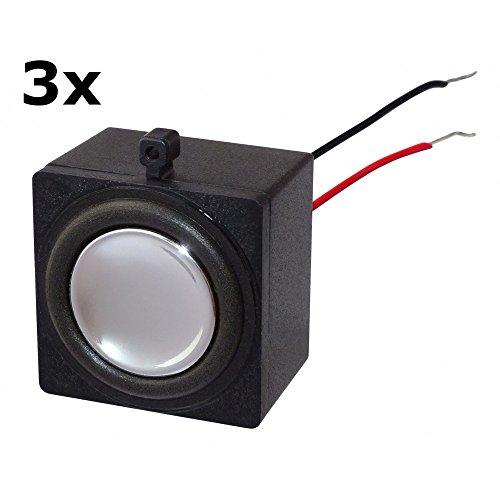 Miniatur Lautsprecher 2 Watt - 8 Ohm 32x32x23 mm 3 Stück, passend für Rasberry Pi, Arduino, Mini-PC, Mainboards, etc