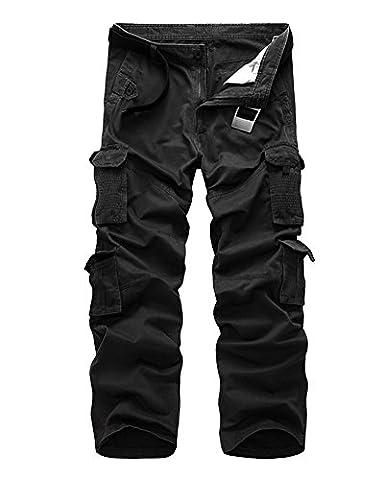 Pantalon Treillis Vintage - Homme Longue Pantalon de Travail Style Cargo