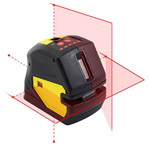 firecore-tools-cross-line-laser-level-kit-self-leveling-with-5-poles-points