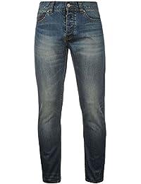 Firetrap Hommes Coupe Slim Skinny Jeans Pantalon En Denim Decontracte Poches