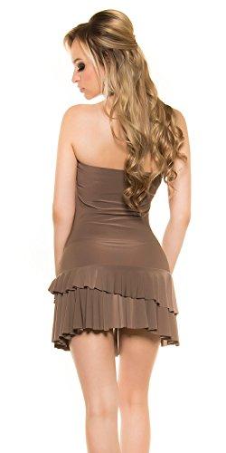 In-Stylefashion - Robe - Femme Marron Marron Taille unique Marron - Cappuccino