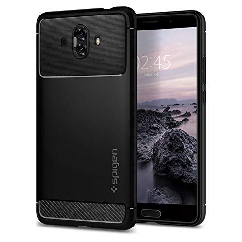 Amazon Spigen® [Rugged Armor] funda Huawei Mate 10 con Absorción de choque resistente y diseño de fibra de carbono para Huawei Mate 10 [Negro]