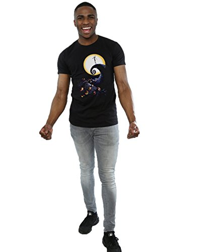Disney Herren Nightmare Before Christmas Cemetery T-Shirt Schwarz
