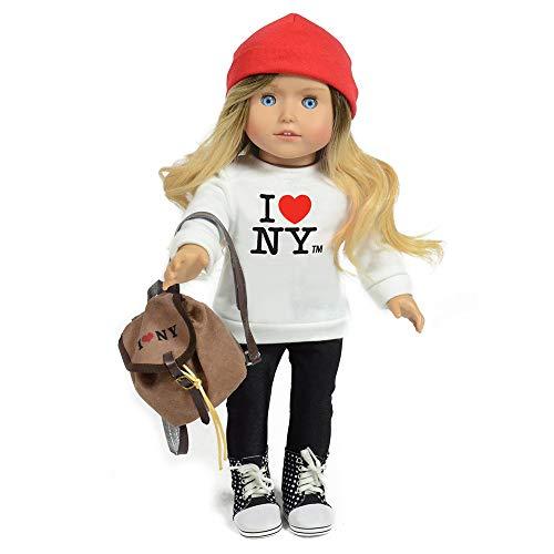 The New York Doll Collection- B138 Kay-Muñeca turística de Nueva York (45,7 cm), Color Blanco