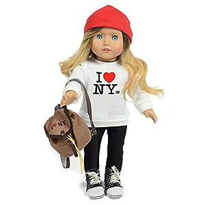 The New York Doll Collection B138 Kay-Muñeca turística de Nueva York (45,7 cm), Color Blanco