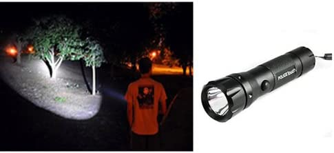 BG Bazzar Gali Police LED Torch Lamp Flashlight for Camping Hike (11cm, Black)