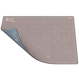 ANSIO Craft Cutting Mat Self Healing A1 Double Sided 5 Layers - Quilting, Sewing, Scrapbooking, Fabric & Papercraft - Imperial/Metric 34 Inch x 22.5 Inch / 89cm x 59cm - Brown/Grey