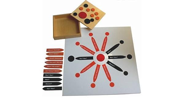 Montessori Satzstern, Montessori-Material inkl. Pfeile: Amazon.de ...