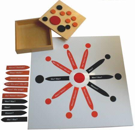 Montessori Satzstern, Montessori-Material inkl. Pfeile