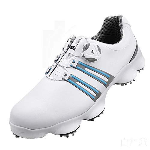 footjoy boa PGM Men es Golf Soft Leather Sports Shoes, wasserproof & Breathable Sneakers mit BOA Lacing System und detachable Schuhe Stud,Purple,UK9/EU43