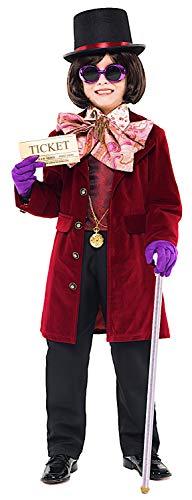 KOSTUumlM Fasching Karneval DER KNIG DER Schokolade Baby fuumlr KARNAVALKOSTUumlME Fancy Dress Halloween Cosplay Veneziano Party 52354 Size 5 (Willy Wonka Kostüm)