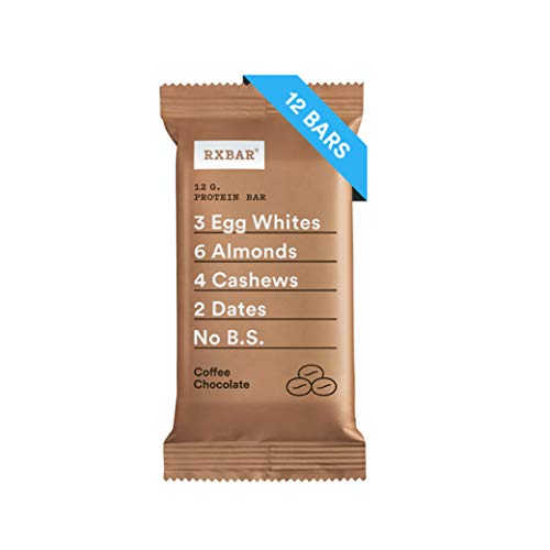 RX Bar Protein Bar, Coffee Chocolate, 1.83 OZ, 12 Bars by RXBAR