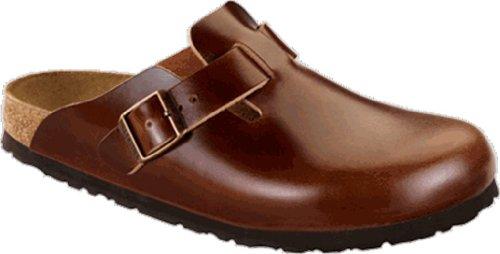 Birkenstock Boston Velours Art. Nr.  Unisex Clogs Braun EU 35 Schuhweite schmal, Chaussures mixte adulte Antik Marone