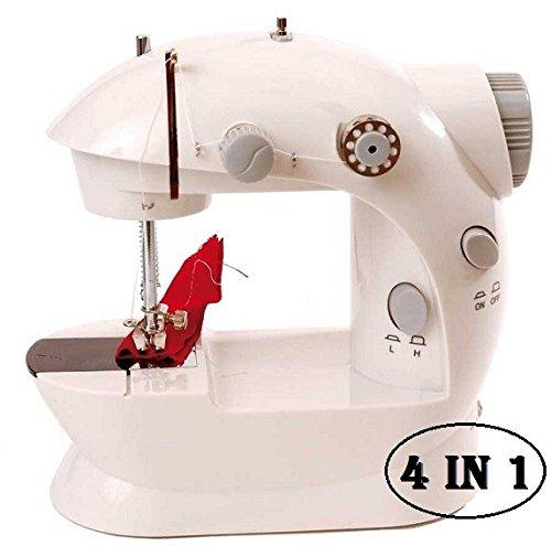 MEDIA WAVE store ® Máquina de coser portátil funciona pilas y corriente (4 en 1)