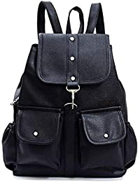 Mithraj Studded Casual Purse Fashion School Leather Backpack Shoulder Bag Mini Backpack for Women & Girls