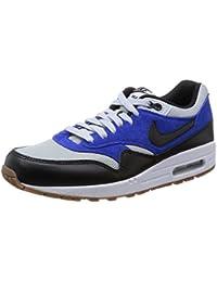 Nike AIR MAX 1 ESSENTIAL Zapatillas Sneakers Cuero Gamuza Azul Blanco para Hombre
