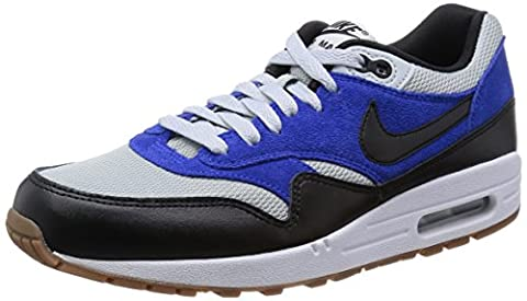 Nike AIR MAX 1 ESSENTIAL Chaussures Mode Sneakers Homme Cuir Suede Bleu Blanc NIKE T:41