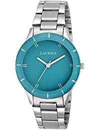 Laurels Colors Blue Dial Analog Wrist Watch - For Women