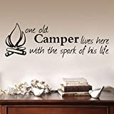 Xqi wangpu One Old Campelives Here with The Spank of His Life Adesivi Rimovibili Arte Vinile Murale Home Room Decor Wall Stickers 91cmx31cm