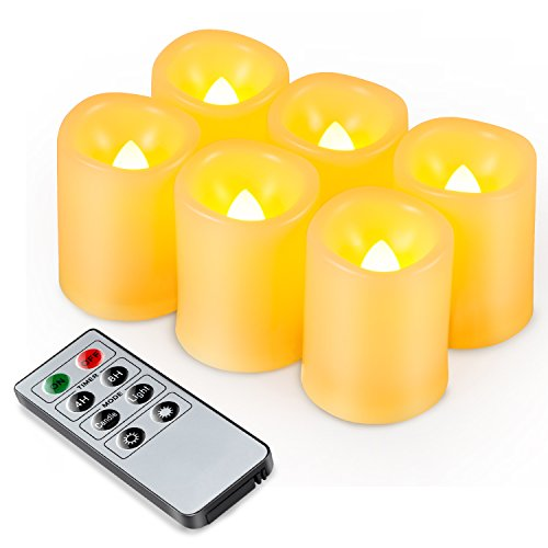 Kohree Pack de 6 Velas LED Sin Llama para Uso en Interiore...