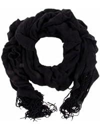 Echarpe tricotée écharpe à franges