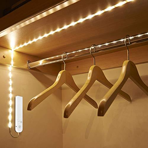 DZFDZ 1 mt2mt 3 mt drahtlose Motion Sensor led nachtlicht Bett Schrank treppen licht USB led Streifen Lampe 5 v für tv hintergrundbeleuchtung Beleuchtung warmweiß2mt USBPort -