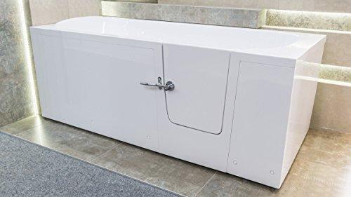 Senioren Sitzbadewanne IMPRESSION 160×76 cm Rechts Sitzbadewanne Seniorenbadewanne Sitzwanne Badewanne mit Tür