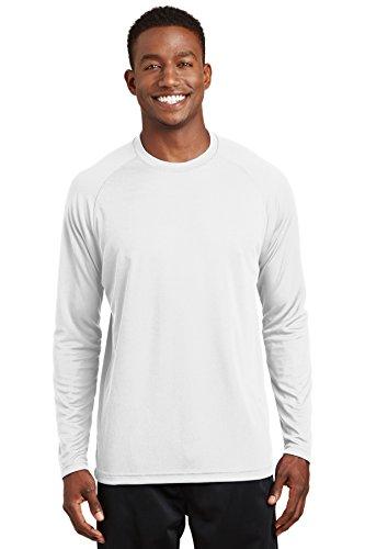 Sport-tek Herren Raglan (Sport-Tek Dry Zone Herren Raglan-T-Shirt Gr. US X-Small, weiß)