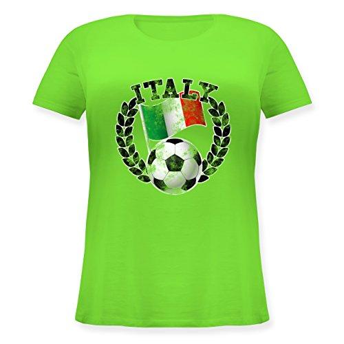 ... großen Größen mit Rundhalsausschnitt Hellgrün. EM 2016 - Frankreich -  Italy Flagge & Fußball Vintage - Lockeres Damen-Shirt in