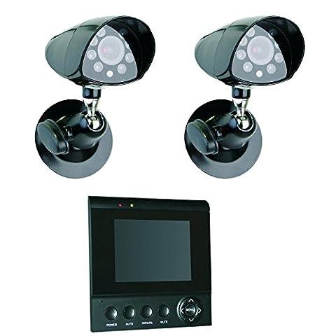 Smartwares CS72SEC Système de vidéosurveillance 2 caméras filaires couleur extérieur avec Écran TFT 4