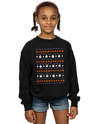 Disney Mädchen Nightmare Before Christmas Halloween Icons Sweatshirt 9-11 Years - Halloween Swts