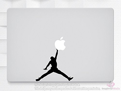 Air Jordan Jumping Laptop MacBook iPad Tablet NoteBook Aufkleber Vinyl Skin by Inspired Walls®