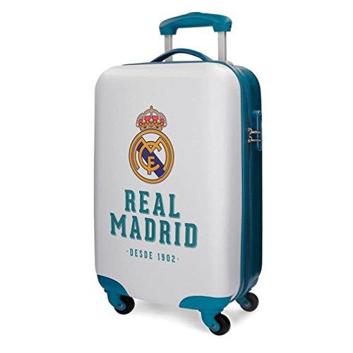 Real Madrid RM Gol Equipaje de Mano, 55 cm, 33 Litros, Blanco