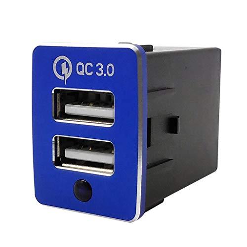 Barlingrock 2019 Universal Dual Port USB 12V-24V In Auto Sockel Feuerzeug Ladegerät Adapter mit LED