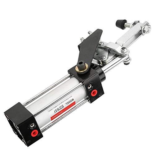 Pneumatikspanner, Akozon Professional Cylinder Pneumatic Hold 300mm GH-12130 Zum Schweißen, Befestigen, Formen und andere Positionen