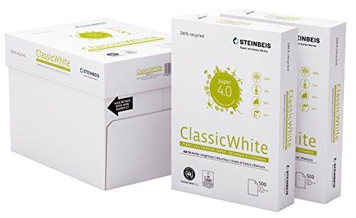 Steinbeis ClassicWhite DIN A4 - 5 x 500 Blatt - weiß - Multifunktionspapier - 80 g / m²