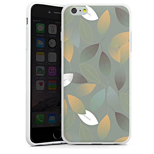 Apple iPhone X Silikon Hülle Case Schutzhülle Herbst Blätter Grün Silikon Case weiß