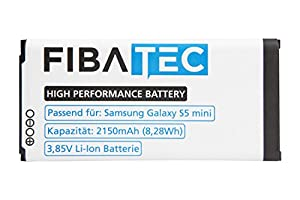 FIBAtec I Ersatzakku POWER AKKU Samsung Galaxy S5 mini, Android Smartphone, Lithium Ionen Akku, Zusatzbatterie, Ersatz- Akku, Energiequelle Mobiltelefon I Handy Ersatzteile, Batterie, Hochleistungsakku