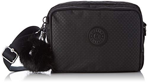 Kipling Damen SILEN Umhängetasche, Schwarz (Powder Black), 24x18x11 cm - Kunststoff Schwarz Messenger Bag