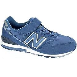 Zapatos Niño Casual Sneakers New Ballance Kv996 Azul 37