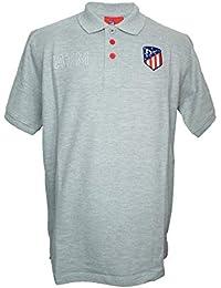 Atlético de Madrid Polo Gris - ATM Blanco con Escudo Original