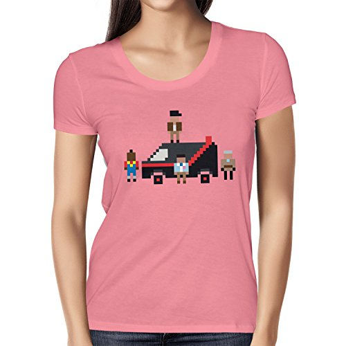 NERDO - The Pixel Team - Damen T-Shirt Pink