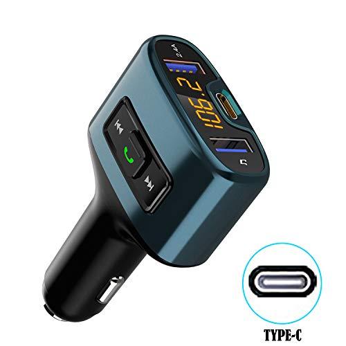 Fancartuk Bluetooth FM Transmitter MP3 Musik Player Wireless Bluetooth FM Radio Adapter Auto Kit Dual USB Ladeanschlüsse