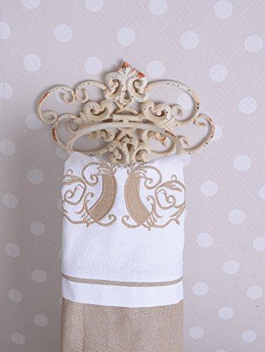 Palazzo int porta asciugamani ad anello da bagno stile vintage shabby chic colore bianco - Amazon porta asciugamani bagno ...