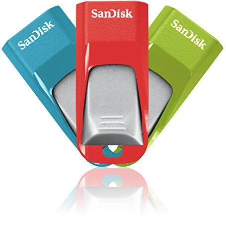 Memoria flash SanDisk Cruzer Edge de 16 GB con USB 2.0 - Pack de 3