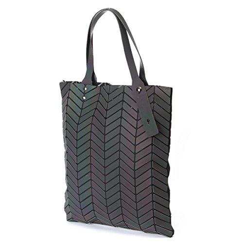 Damenhandtasche Lingge Schultertasche Geometrische Falte Messenger Bag OneColor